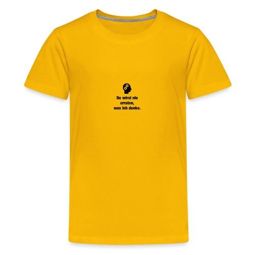 Der Denker - Teenager Premium T-Shirt