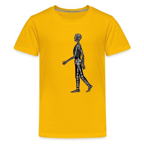 Menschen-Skelett - Teinien premium t-paita