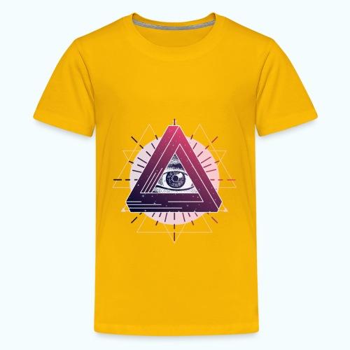 All-seeing eye triangle magic - Teenage Premium T-Shirt