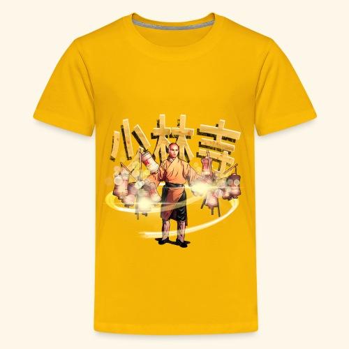 Gordon Liu som San Te - Warrior Monk - Teenager premium T-shirt