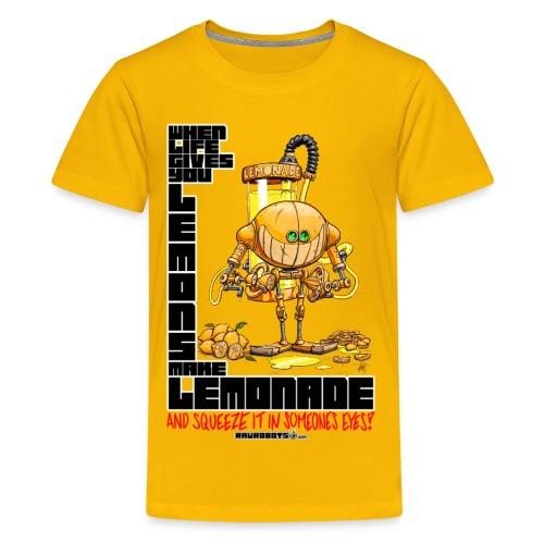 Lemonade Robot!🍋 - Teenager premium T-shirt