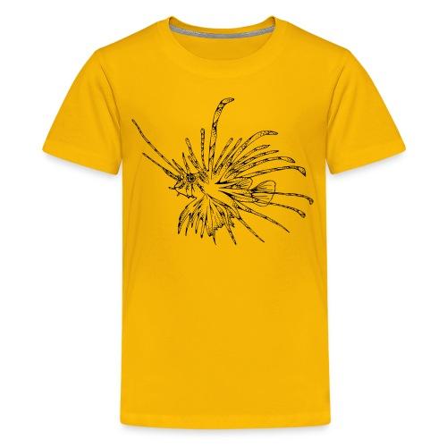 Tribal Tattoo Tauchen Taucher Lionfish Dive - Teenager Premium T-Shirt