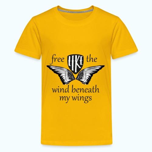 Free like the wind beneath my wings - Teenage Premium T-Shirt