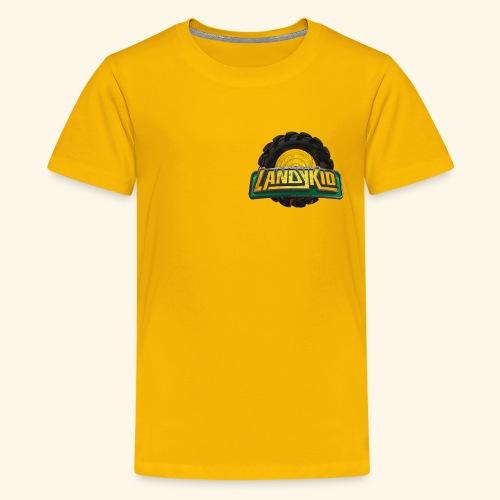 LandyKid Logo XL trans png - Teenage Premium T-Shirt