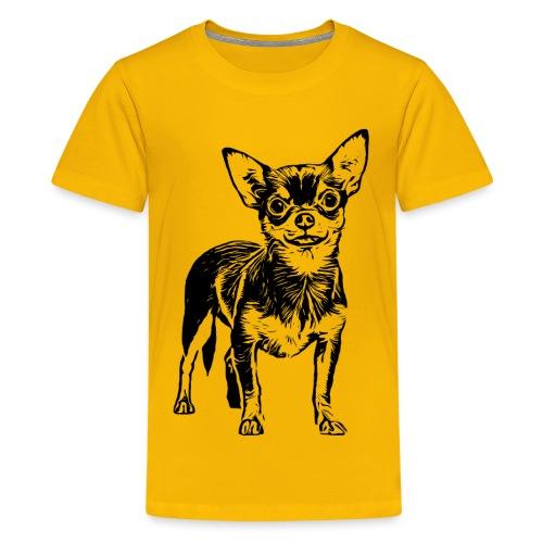 Chihuahua Hunde Design Geschenkidee - Teenager Premium T-Shirt