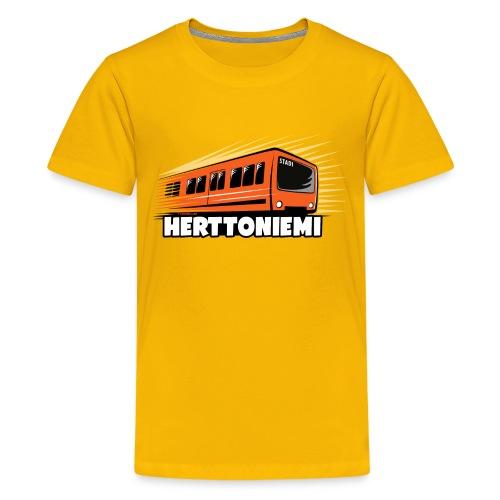 HERTTONIEMI METRO, HELSINKI Tekstiilit ja lahjat - Teinien premium t-paita
