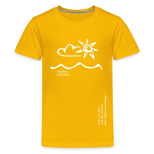Dem Strand entlang!.. - Teenager Premium T-Shirt