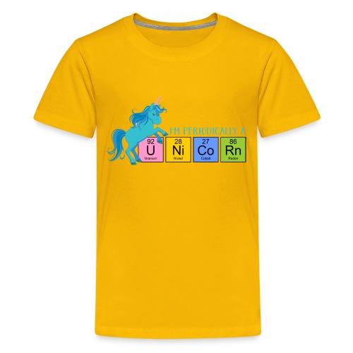 Periodic Table Of Chemical Elements UNICORNS 5 - Teenager Premium T-Shirt