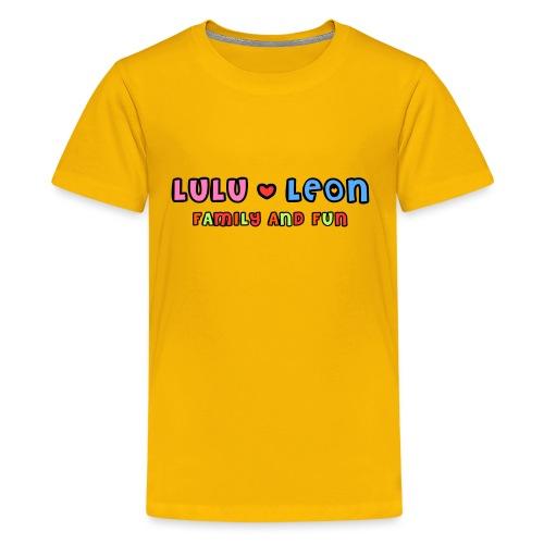 Lulu Leon Family and Fun Titel png - Teenager Premium T-Shirt