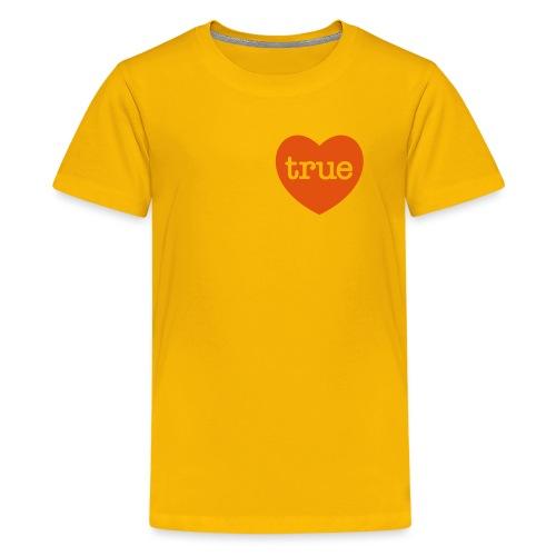 TRUE LOVE Heart - Teenage Premium T-Shirt
