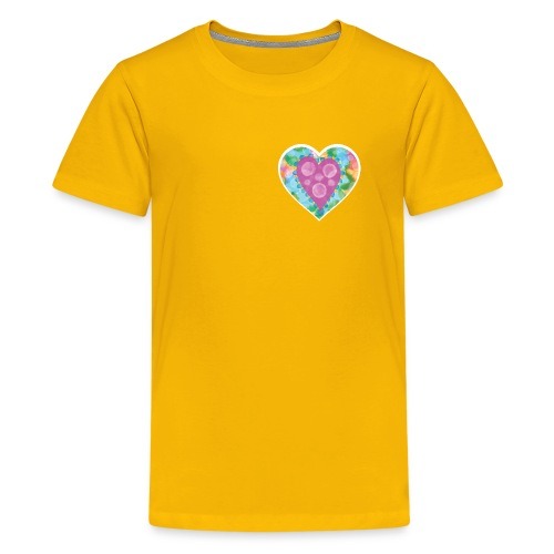 Heart Bubbles make you float - Teenage Premium T-Shirt