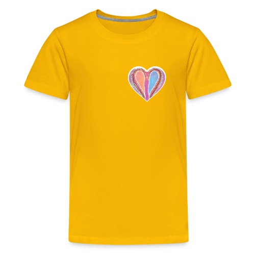 Hearts dont split, they get wings - Teenage Premium T-Shirt