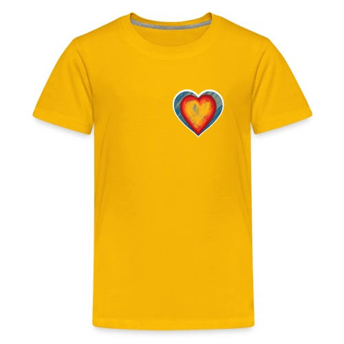Warm lovely heart - Teenage Premium T-Shirt
