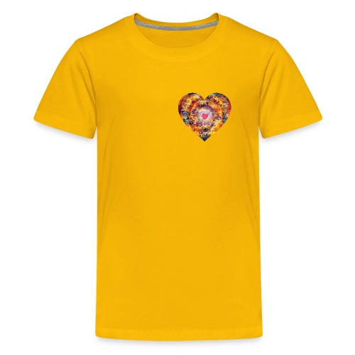A small big heart of love - Teenage Premium T-Shirt