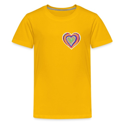 A heart in hearts is pure love on many levels - Teenage Premium T-Shirt