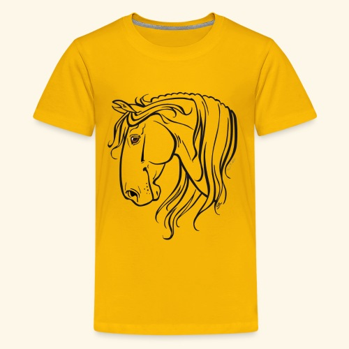 Cheval espagnol (noir) - T-shirt Premium Ado