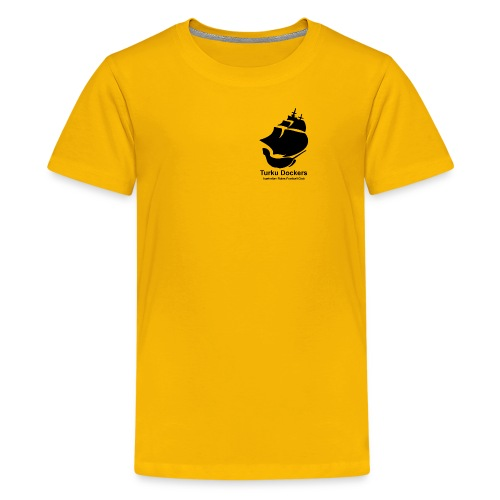 Turku Dockers MUSTA logo - Teinien premium t-paita