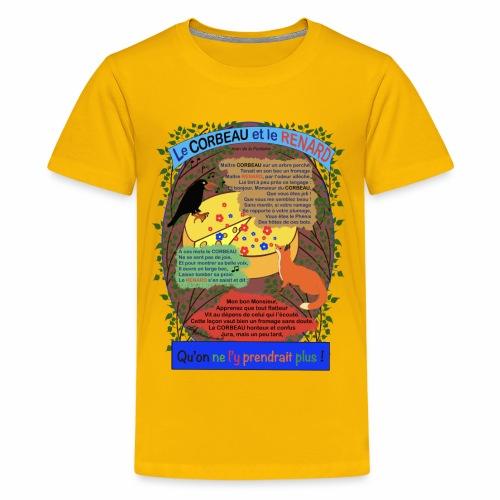 Le Corbeau et le Renard (Jean de la Fontaine) - Teenager Premium T-Shirt