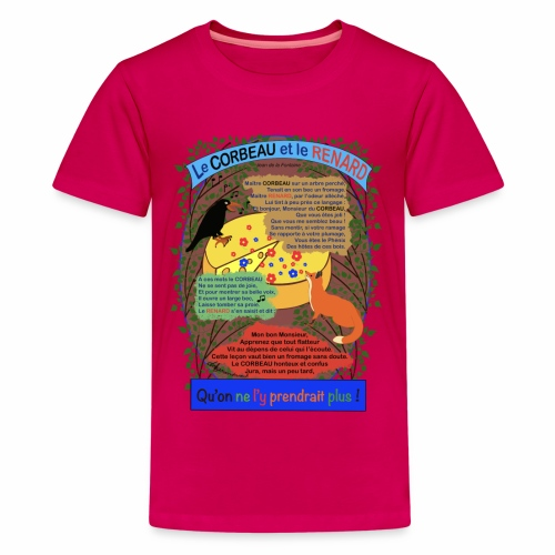 Le Corbeau et le Renard (Jean de la Fontaine) - T-shirt Premium Ado