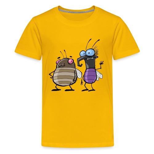 Teenager Premium Langarmshirt Insekten - Teenager Premium T-Shirt