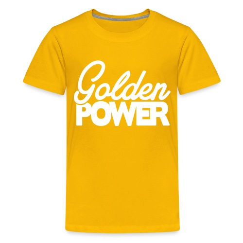 GoldenPower Logo V2 white png - Teenager Premium T-shirt
