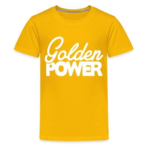 GoldenPower Logo V2 white png - Teenager Premium T-shirt