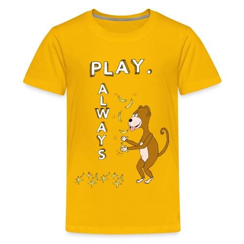 PLAY ALWAYS - JUGGLER MONKEY - Circus Lover - Maglietta Premium per ragazzi