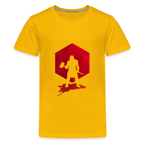 Brutal Barbarian - Dungeons and Dragons dnd d20 - Teenage Premium T-Shirt