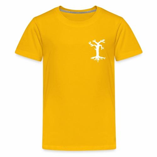 Valkoinen kelopuu - Teinien premium t-paita