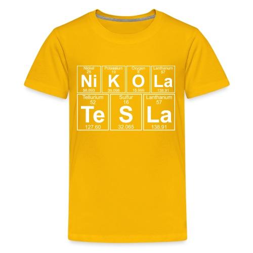 Ni-K-O-La Te-S-La (nikola_tesla) - Full - Teenage Premium T-Shirt