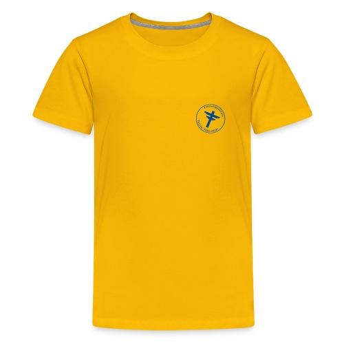 leima sininen - Teinien premium t-paita