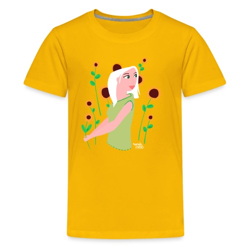 tournesols avec fille - T-shirt Premium Ado