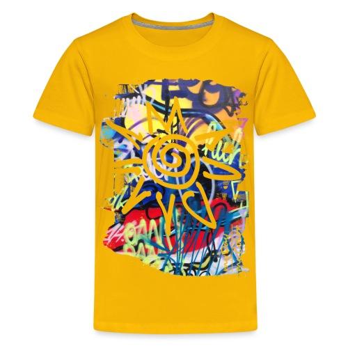 CityColors / Graffiti Sonne - Teenager Premium T-Shirt