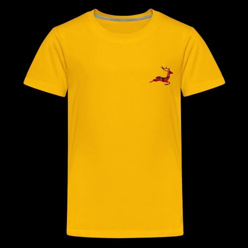 noël cerf écossais - T-shirt Premium Ado