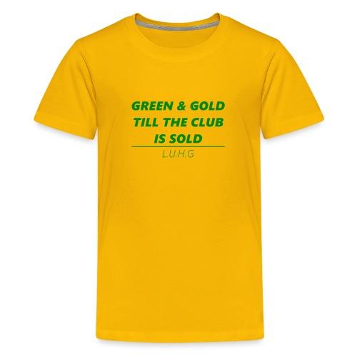 Green & Gold - United - Teenager Premium T-Shirt