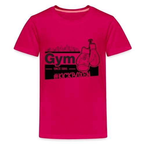 Gym in Druckfarbe schwarz - Teenager Premium T-Shirt