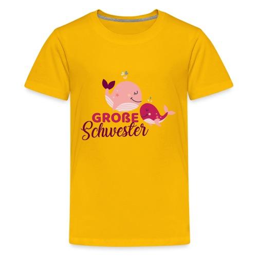 Wale - große Schwester - Teenager Premium T-Shirt