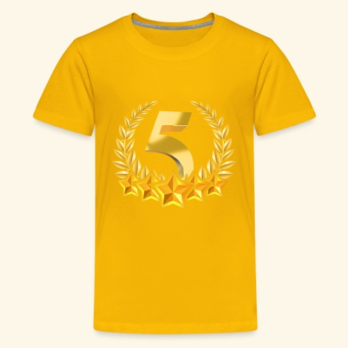 Fünf-Stern 5 sterne - Teenager Premium T-Shirt