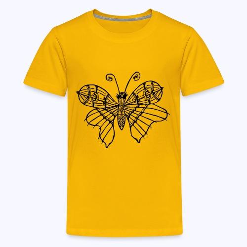 Schmetterling schwarz - Teenager Premium T-Shirt