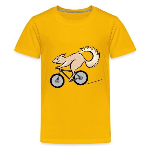 Fahrrad und Eichhörnchen - Teenager Premium T-Shirt