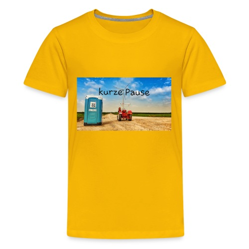 kurze Pause - Teenager Premium T-Shirt