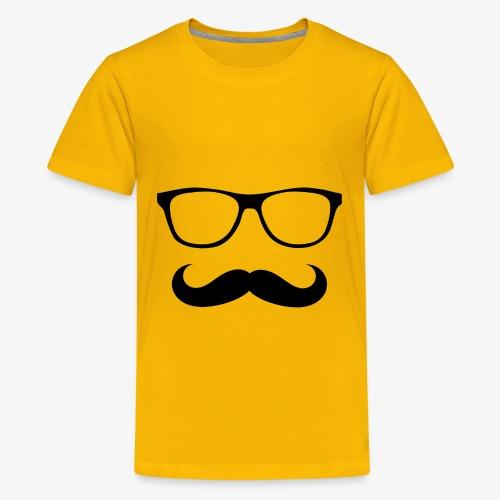 gafas y bigote - Camiseta premium adolescente