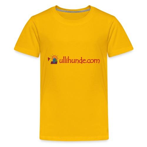 Ullihunde Schriftzug mit Logo - Teenager Premium T-Shirt