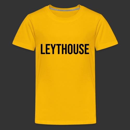 LEYTHOUSE main logo black - Teenage Premium T-Shirt