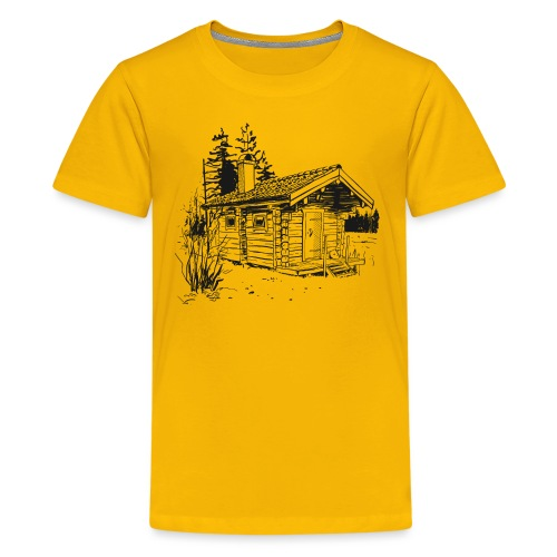 The sauna is my happy place - Teenage Premium T-Shirt