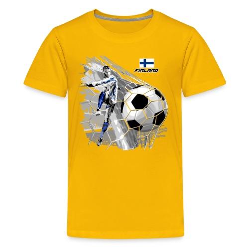 FINLAND FOOTBALL SOCCER PLAY T SHIRTS, GIFTS etc. - Teinien premium t-paita