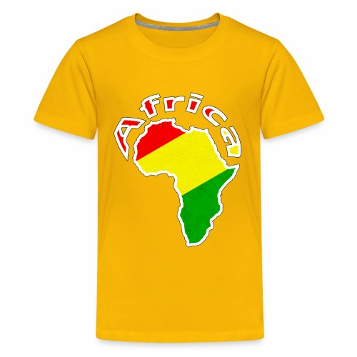 Afrika - rot gold grün - Teenager Premium T-Shirt