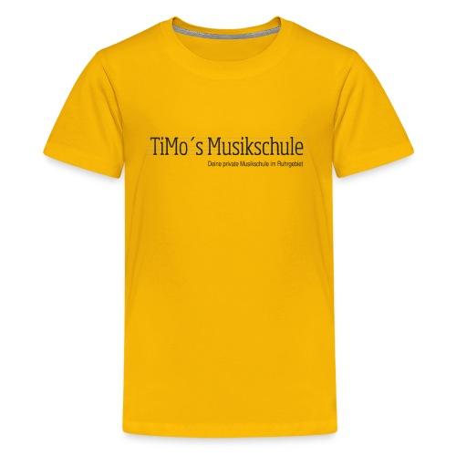 Timos-Musikschule_LOGO-tr - Teenager Premium T-Shirt