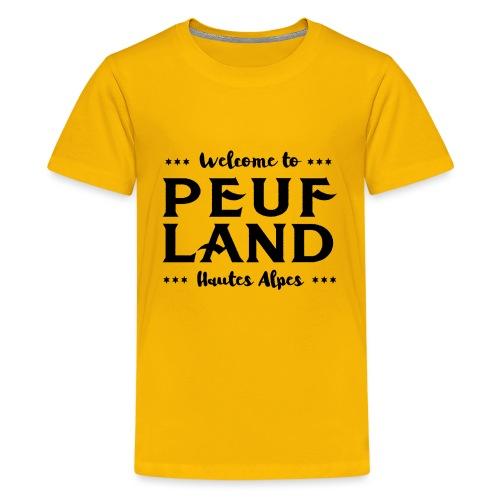 Peuf Land 05 - Hautes-Alpes - Black - T-shirt Premium Ado