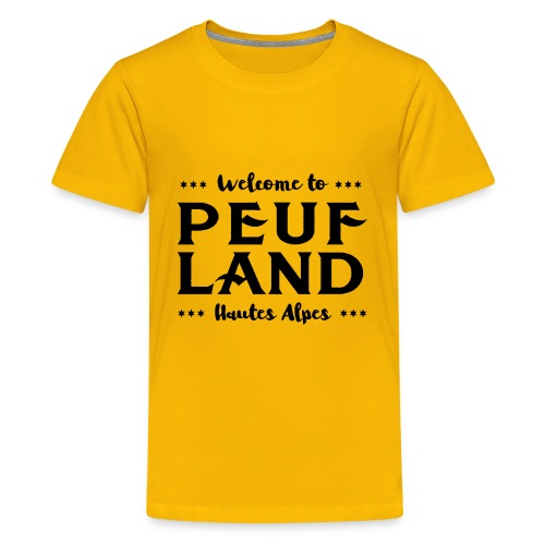 Peuf Land 05 - Hautes-Alpes - Black - T-shirt Premium Ado
